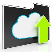 Upload Arrow And Cloud File Showing Uploading