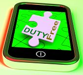 Duty Free On Smartphone Shows Tax Free Purchasing