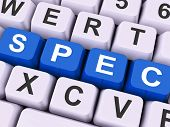 Spec Keys Show Specifications Blueprint Or Design