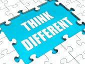 Think Different Puzzle Shows Thinking Outside The Box