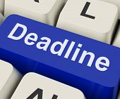 Deadline Key Means Target Time Or Finish Date.