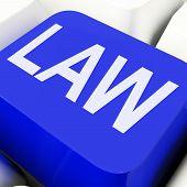 Law Keys Mean Legally Or Statute.
