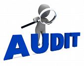 image of financial audit  - Audit Character Meaning Validation Auditor Or Scrutiny - JPG