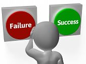Failure Success Buttons Show Outcome Or Motivation