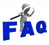 Faq 3D Character Shows Assistance Inquiries Or Frequently Asked Questions