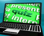 Quiz Computer Means Test Quizzes Or Questions Online