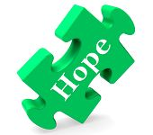 Hope Jigsaw Shows Hoping Hopeful Wishing Or Wishful
