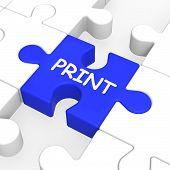 Print Key Shows Printer Printing Or Printout