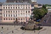 stock photo of bohdan  - Square with monument of Bogdan Hmelnitsky in Kiev - JPG