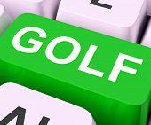 pic of miniature golf  - Golf Key Meaning Golfer Club Or Golfing - JPG