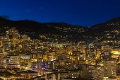 The Principality of Monaco , night view