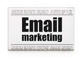 Business concept: newspaper headline Email Marketing