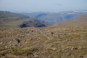 image of taimyr  - Rocky landscape on the Putorana plateau - JPG