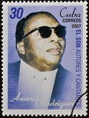 CUBA - CIRCA 2007: A stamp printed in cuba shows Arsenio Rodriguez