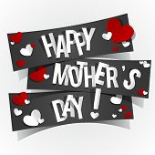 stock photo of i love you mom  - Creative Happy Mother - JPG
