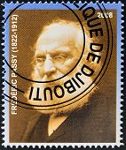 DJIBOUTI - CIRCA 2008: stamp printed in Djibouti shows Frederic Passy