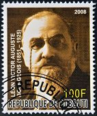 DJIBOUTI - CIRCA 2008: stamp printed in Djibouti shows Leon Bourgeois