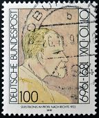 GERMANY - CIRCA 1991: A stamp printed in Germany shows Otto Dix circa 1991