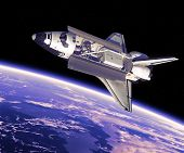 Space Shuttle in Space.