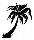 Tropical Palm Tree Silhouette