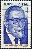 FRANCE - CIRCA 1994: A stamp printed in France shows Jacob Kaplan circa 1994