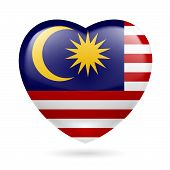 Heart icon of Malaysia