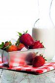 Fresh Strawberries And Cream