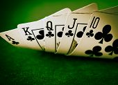 foto of ace spades  - full house in poker - JPG