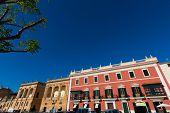 Ciutadella Menorca Placa des Born in downtown Ciudadela at Balearic islands