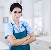 Confident Female Housekeeper