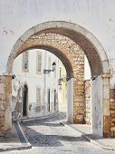 Streets Of Old Town Faro In Algarve