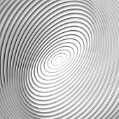 Design Monochrome Whirl Circular Motion Background. Abstract Striped Distortion Backdrop