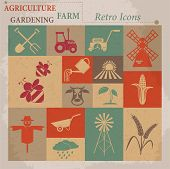 picture of wind wheel  - Retro agriculture and farming icons - JPG