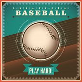stock photo of infield  - Baseball background with retro design - JPG