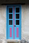 Blue and Pink Door