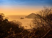 stock photo of papagayo  - Scenic view of the sunset along the Golfo de Papagayo in Guanacaste Costa Rica - JPG