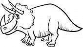 Triceratops Dinosaur Coloring Page