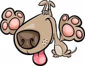stock photo of mongrel dog  - Cartoon Vector Illustration of Cute Playful Dog - JPG