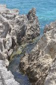 Rocks On The Shore Of The Aegean Sea