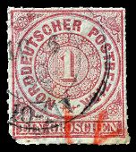 German stamp 1868