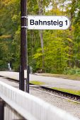 Railway Station Platform Sign