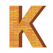 Brick Letter K
