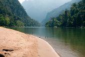 image of ou  - Scenery river Nam Ou in Laos between Nong Kiao und Muang Ngoi Neua - JPG