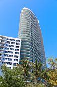Modern architecture of Miami Beach Florida.