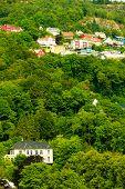 Houses On Hills In City Bergen, Norway