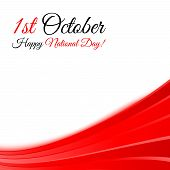 1St October National Day Background Template