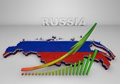 Illistration Of Russia Map