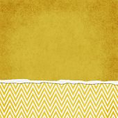 Square Yellow And White Zigzag Chevron Torn Grunge Textured Background