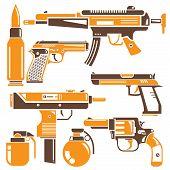 gun, machine gun set