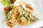 Seafood Som Tum Green Papaya Salad